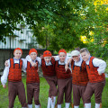 """Mark, Mikk, Kaarel, Kent, Joosep ja Sten, XIX tantsupeo """"Puudutus"""" 1. etendus, Tallinn"""
