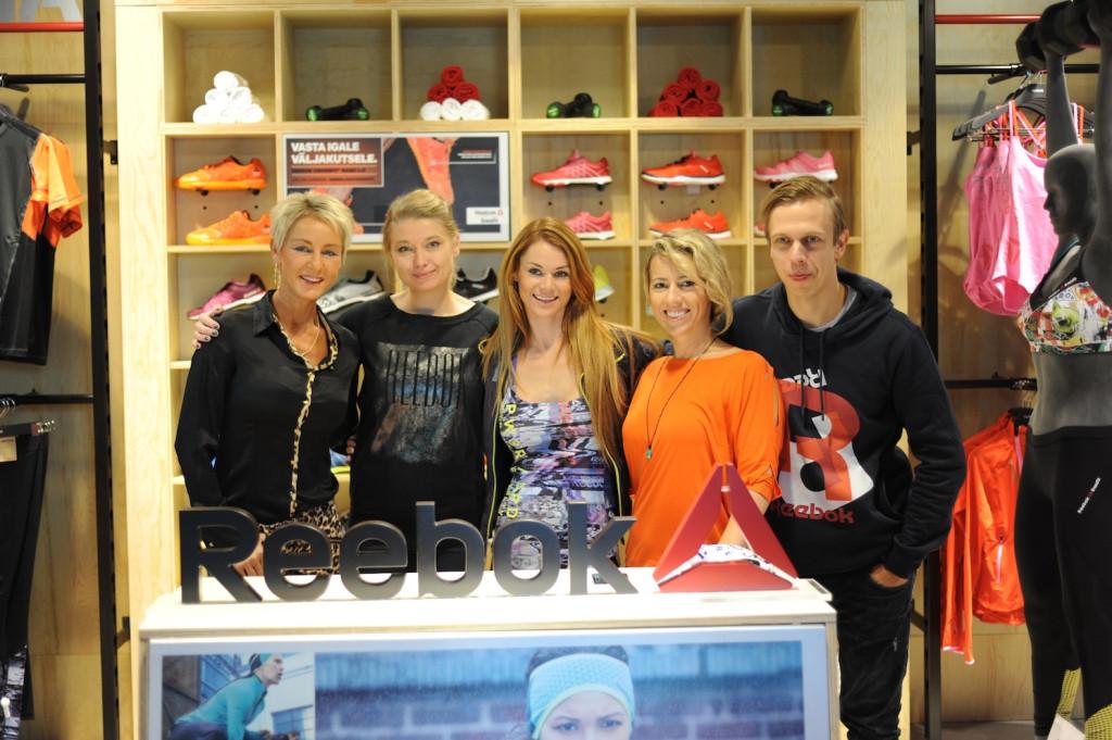 Kaja Evelin Egle Kersti Sven 1024x681 Reebok avas Tallinnas esinduskaupluse