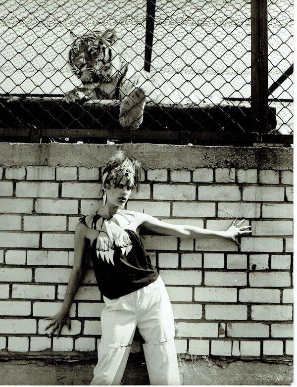 ERKI 1985 Anu Hindi kollekstioon Küüned ja Kihvad modell Ly Ranne ERKI Moeshow retrospektiiv