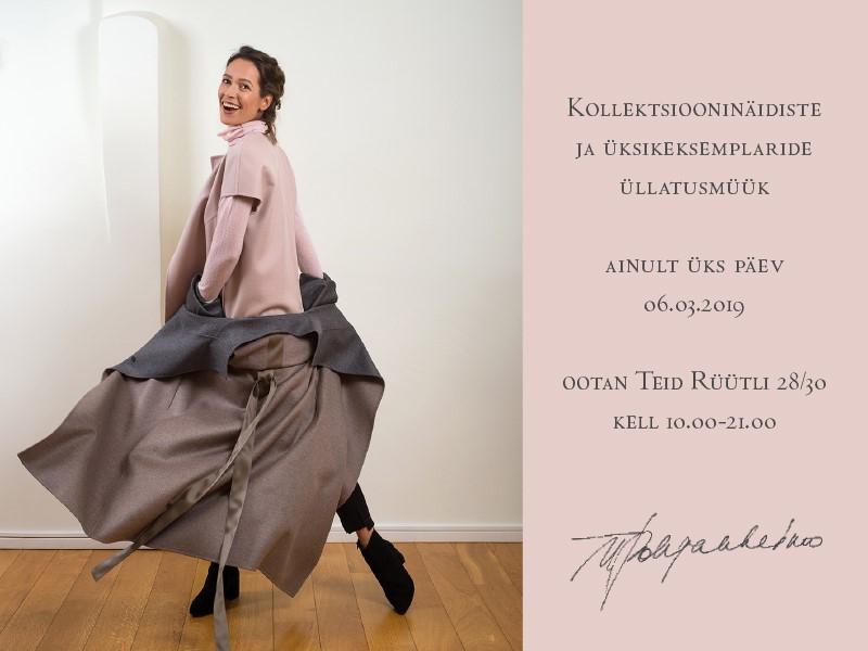 ylle Pohjanheimo moemaja kollektsiooninäidiste üllatusmüük!