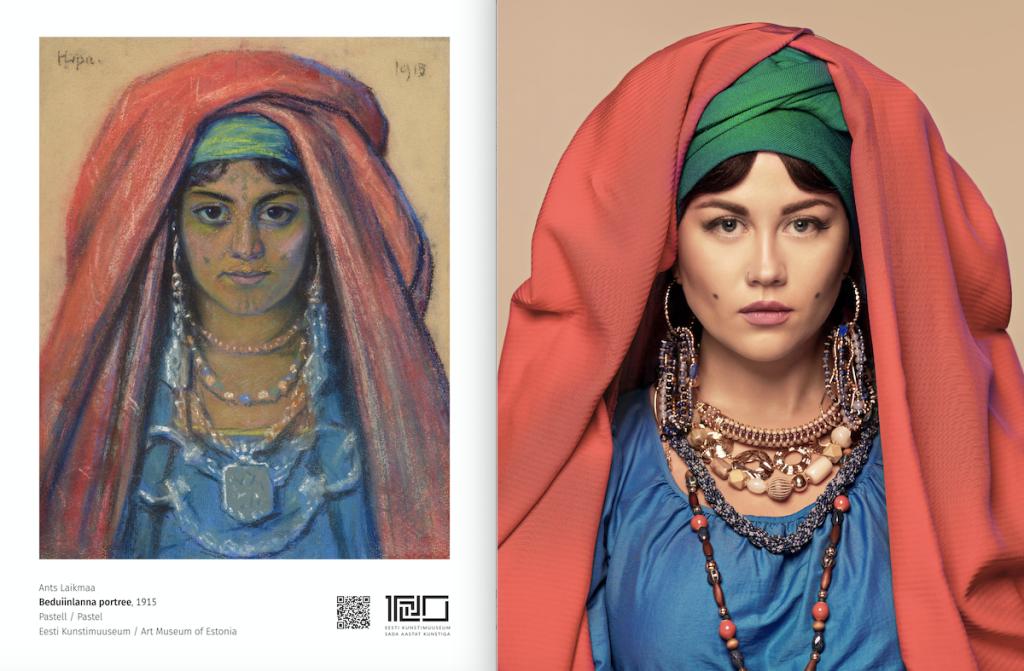 Beduiinlanna ja Elina Born v 1024x671 Ants Laikmaa kunstiteoste fotolavastus